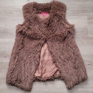 Betsey Johnson Faux Fur Super Soft Vest